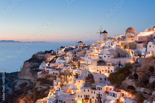 Leinwandbild Motiv Oia Santorini Greece at dusk