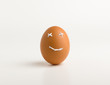 smiling egg and toothpaste
