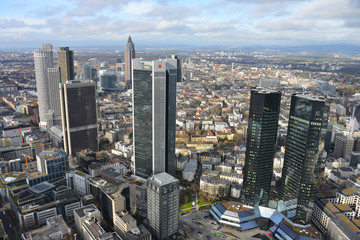 Frankfurt am Main, Hochhäuser, City, Skyline, Banken
