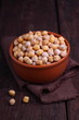 dry chickpeas in a bowl on the table