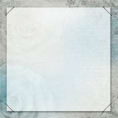 blue and grey textured  background with floral elements