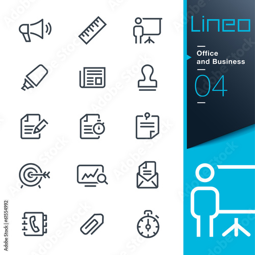 Lineo - Office and Business outline icons