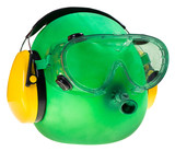 goggles and ear protectors, protective equipment