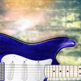 abstract jazz rock background with electric guitar