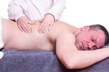 Mann bei Massage