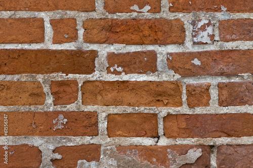 In de dag Red brick wall