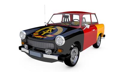 Trabant DDR Flagge