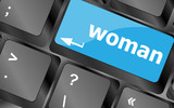 woman word on keyboard key button
