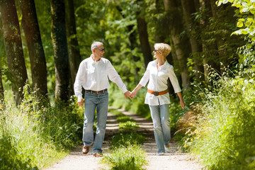 Glückliches Älteres Senior Paar