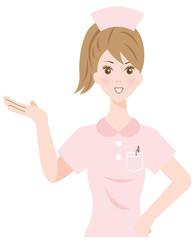 案内する看護婦