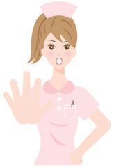 ストップサインの看護婦