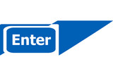 enter sign web icon button, business concept
