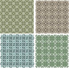 Big vintage plaid patterns set background