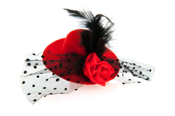 Red female hat