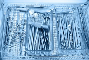 Various dental instruments