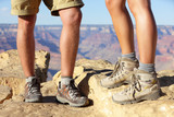Hiking shoes on hikers in Grand Canyon