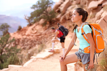 Hiker in Grand Canyon