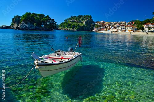 Leinwanddruck Bild Parga tourist restort in north Greece