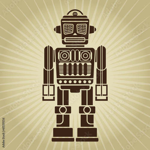Retro Vintage Robot Illustration
