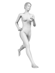 medical 3d illustration - female jogger