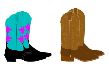 mens and ladies cowboy boots
