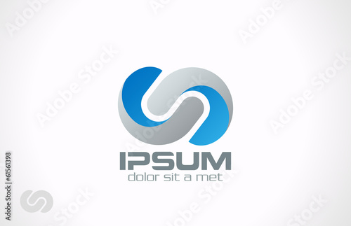 Logo Business Corporate Abstract loop infinity vector icon