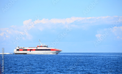 passenger ferry boat in open waters in Baltic Sea
