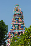 Hindu temple in the center of Georgetown, Penang Island