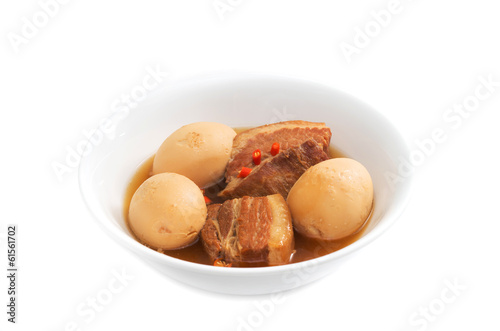 Thit Heo Kho Trung  Vietnamese caramelised pork belly with hard-