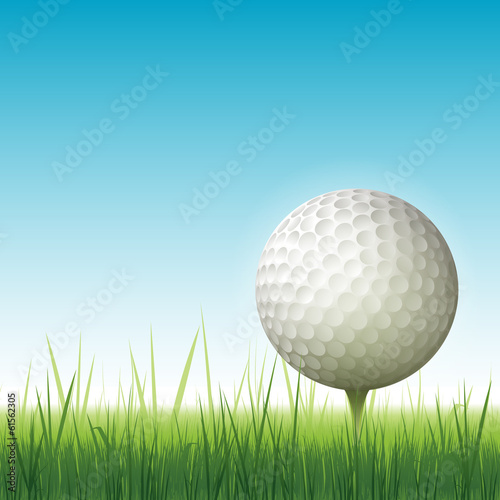 Realistic golf backgrouns illustration
