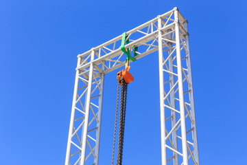 chain lift on blue sky