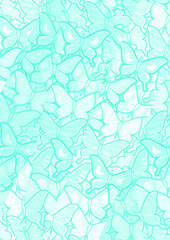 Creative cyan butterflies wallpaper