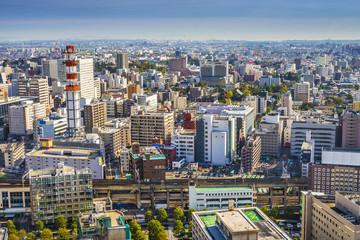Sendai, Japan cityscape in the central ward