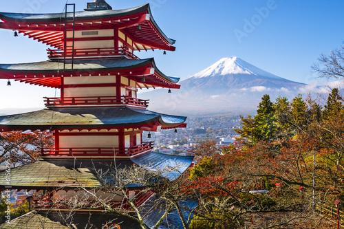 Fuji and Pagoda