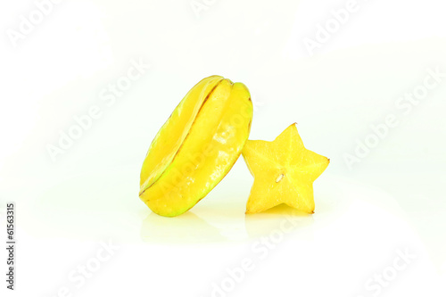 cut and whole star fruit