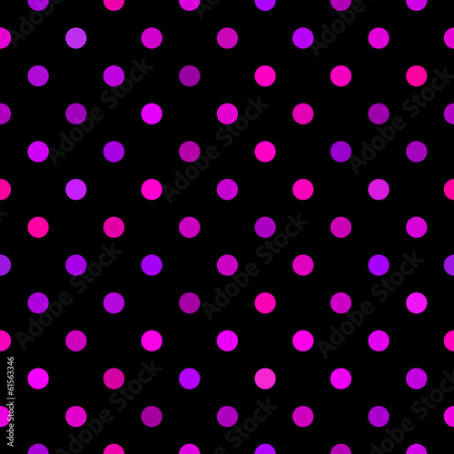 Seamless black dotted pattern