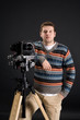 Photographer with modern digital camera