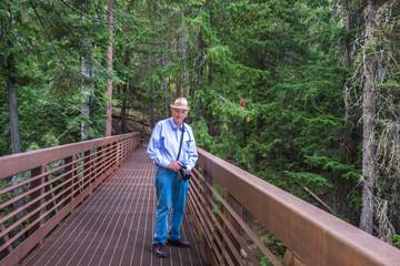 Healthy Active Senior Hiking Nature Photography