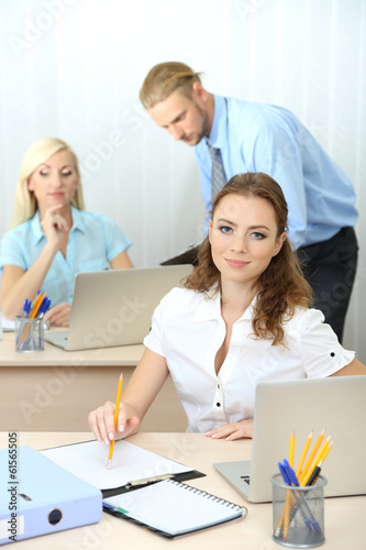 Office workers in workplace