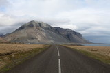 Road along the south east coast of Iceland.