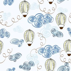 Cute hand draw seamless pattern for boy.