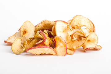 Dried apples in closeup
