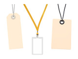Set of Blank badge and Blank price tags. Vector illustration