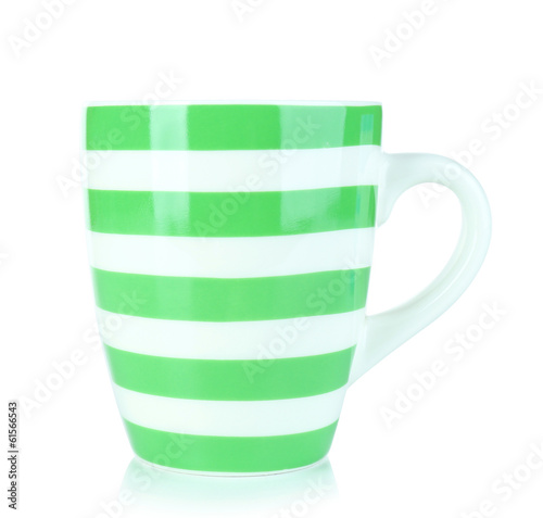 Color empty mug isolated on white