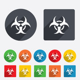 Biohazard sign icon. Danger symbol.