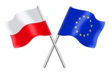 Fototapety Flags : Europe and Poland