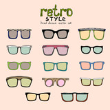 hipster retro glasses