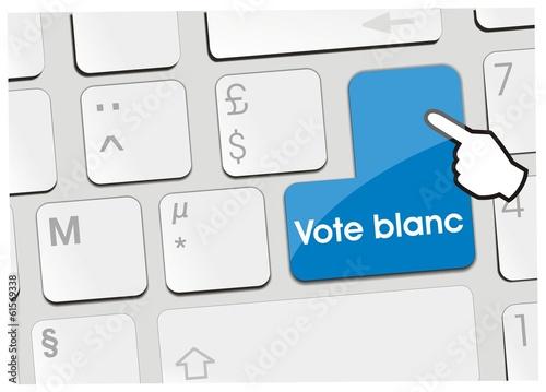 clavier vote blanc