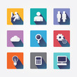 Set design concept icons and apps. Icons for web design and info