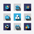 Set design business concept icons and apps. Icons for web design
